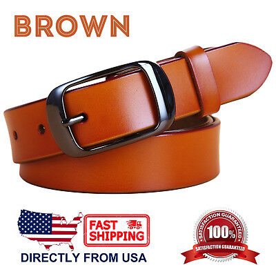Women's Jean Belt, Classic Buckle Handcrafted Genuine Leather Belt 6