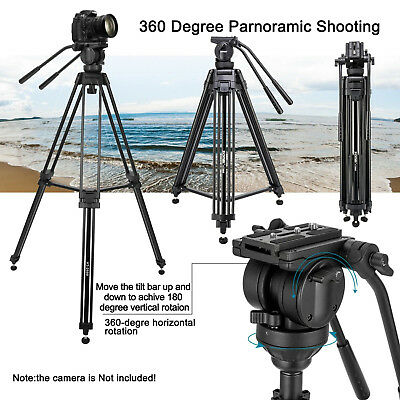 ZOMEI VT666 Professional Video Camera Tripod with Fluid Pan Head For Camcorder B 3