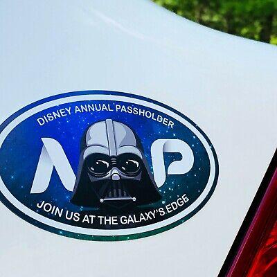 Darth Vader Oval Annual Passholder Car, SUV, Magnet Disney World / Disneyland 2