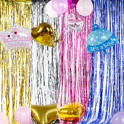 2M-3M Foil Fringe Tinsel Shimmer Curtain Door Wedding Birthday Party DECORATIONS 6