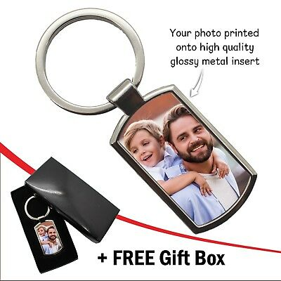 Personalised Photo Keyring Custom Birthday Wedding Image Logo Gift FREE Gift Box 3