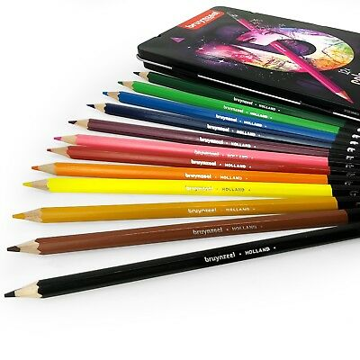 Bruynzeel Colouring Pencils - 12 Assorted Colours in Metal Gift Tin - Pink Set 2