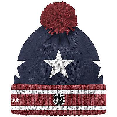324702bf577 ... Washington Capitals 2015 Nhl Winter Classic Reebok Cuffed Pom Knit Hat  Toque 2