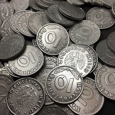 Rare WW2 Nazi Germany 3rd Reich 10 Reichspfennig Swastika Coin Buy 3 Get 1 Free 9