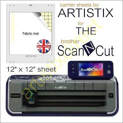 Scan N Cut Artistix Fabric Cutting Mat Carrier Sheet Scanncut 12 x 12