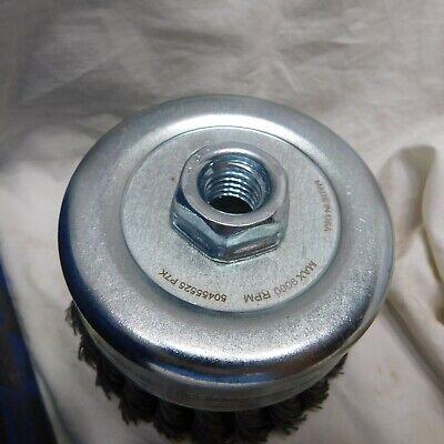 """Pferd 4"""" Dia. x 5/8-11 Thread Knot - Standard Twist Cup Brush .023 CS Wire 3"""
