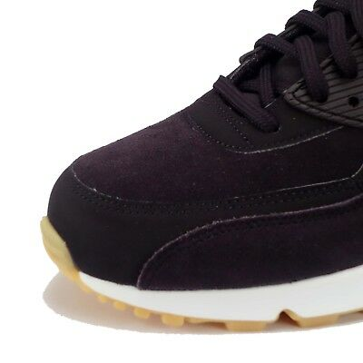 NIKE AIR MAX 90 SE Women's Suede Casual Shoes in Port Wine
