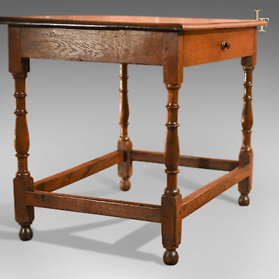 Antique Occasional Table, Victorian, Oak, English, Country, Hall, Side, c.1850 5