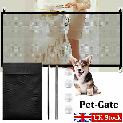Retractable Pet Dog Gate Safety Guard Folding Baby Toddler Stair Gate Isolation 2