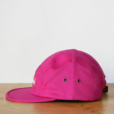 ae241b296e6 ... Supreme 5 panel Washed Cavalry Twill Camp Cap Magenta Casquette Box Logo  2