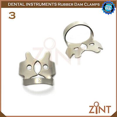 Rubber Dam Universal Clamps Upper & Lower Premolar Anterior Medesy Basic Set New 4