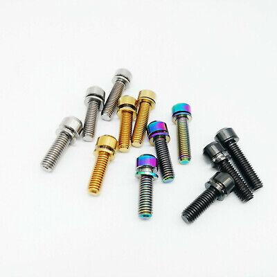Titanium Ti Bolt M5x16 M5X18 M5X20mm Tapered Head Scres stigma bolt washer 10pcs