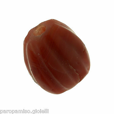 (0691) Buddhist Nan Hong Pema Raka Bead, China-Tibet. Melon shaped 8