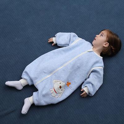 Baby Toddler Kids 100% Cotton Wearable Organic Blanket Sleeping Bag Winter Wrap 6