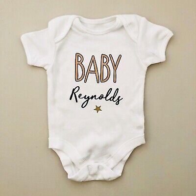 PERSONALISED unisex baby clothing vest babygrow zebra baby shower gift ANY NAME