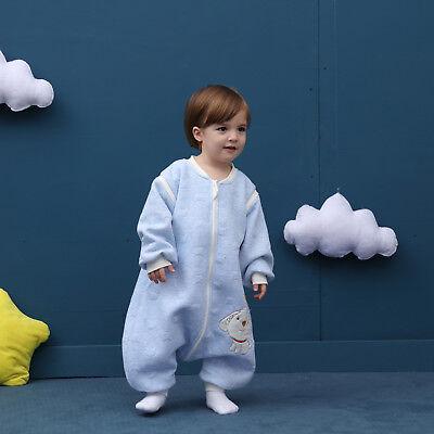 Baby Toddler Kids 100% Cotton Wearable Organic Blanket Sleeping Bag Winter Wrap 9