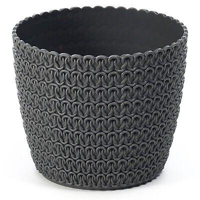 Plant pot cover indoor plastic rattan flower cover round modern decor planter 6