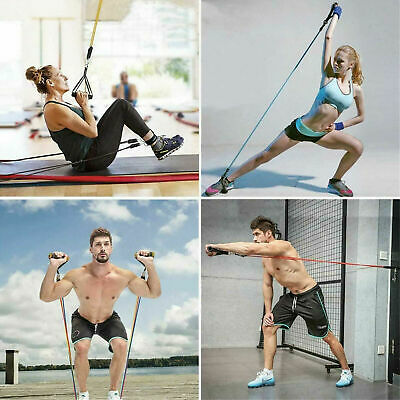New Resistance Bands Workout Exercise Yoga 11 Piece Set Crossfit Fitness Tubes 3