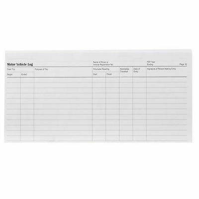 Vehicle Log Book  Wildon 87W BLUE, WIL087, record travel for ATO tax purposes 2