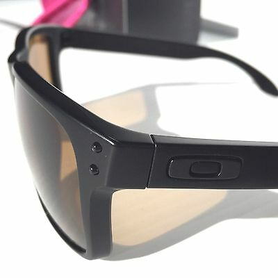 c87c0ce019 ... NEW  Oakley HOLBROOK Matte BLACK w POLARIZED Bronze Golf Sunglass  9102-98 9