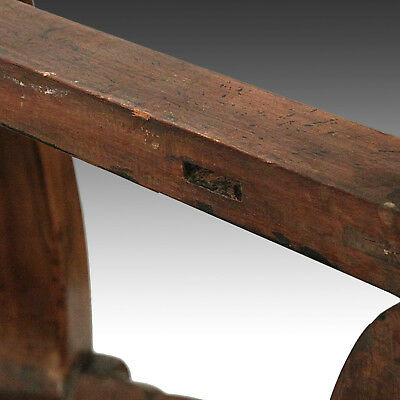 Very Rare Chinese Fine Pair Huanghuali Demilune Tables & Four Stools Hubei China 6