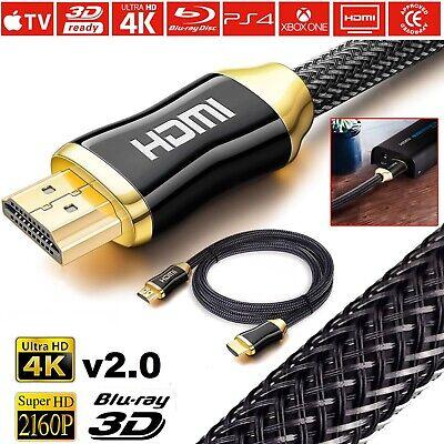 CAVO HDMI ORO 1,5-3-5 M ULTRA FULL HD 4K 2160p V2.0 EHTERNET ALTA VELOCITA PS4 3