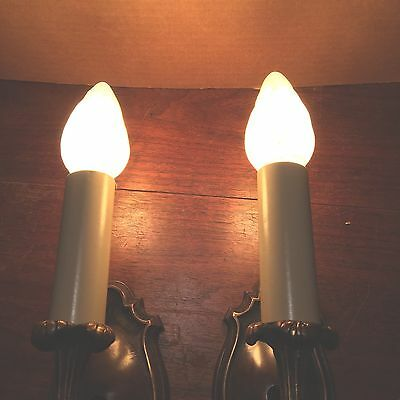 Beautiful Sconces Vintage Antique Wired Pair Electric Candles 3 • CAD $605.98