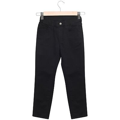 Boys Trousers Jeans Pants Pull On Stretch Elasticated Waistband Straight 2