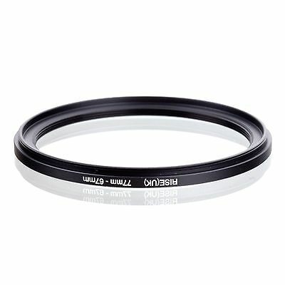 RISE(UK) 77-67mm  77mm to 67mm 77-67  Step Down Filter Ring Matel Adapter 2