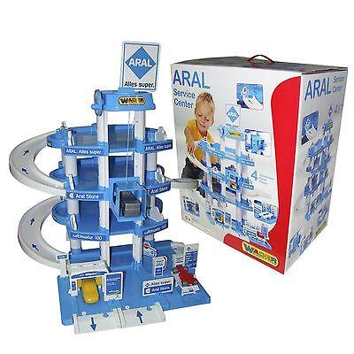 Wader Parkgarage ARAL mit 4 Ebenen Spielzeugautos