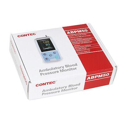 CONTEC ABPM50 Ambulatory Blood Pressure Monitor, PC Software,Adult cuff USA FDA 9