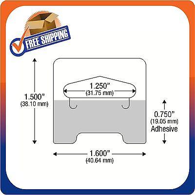 100 Clear Self Adhesive Medium Duty Slot Hang Tab Tags 14Oz Limit Retail Hangers