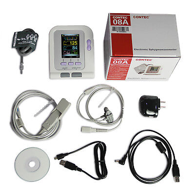 Pediatric infant desktop Electronic blood pressure monitor NIBP SPO2 color LCD 9