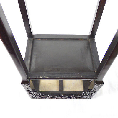 Chinese Hardwood Incense Table Marble Inset Qing Dynasty 19th C 6