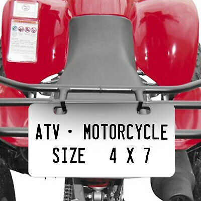 Personalized Custom License Plate Tag for California Auto Car Bicycle ATV Bike 4