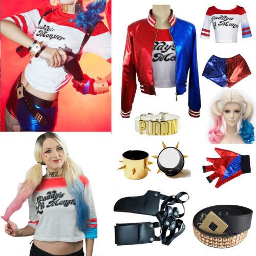 Tanz Bühne Rohlschuhlaufen Derby-Suicide Squad-Harley Quinn Hotpants Damen 10-14