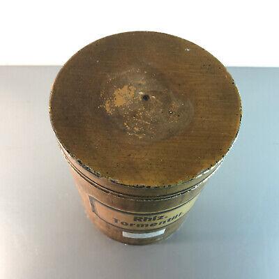 (m145) Blechdose Rhiz. Tormentill. 18 cm APOTHEKERDOSE Blech Metall Dose 2
