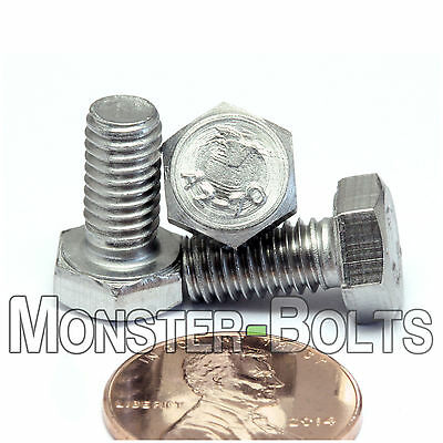M6-1.0 x 16mm Stainless Steel A2-70 Qty 20 DIN 933 HEX CAP BOLT // Screw