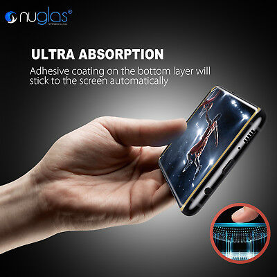 NUGLAS Samsung S10 S9 S8 Plus Note 9 Tempered Glass Full Cover Screen Protector 5