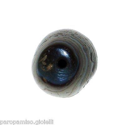 Striped Agate Bead from China-Tibet,  中国古董条纹玛瑙珠    (0436) 7