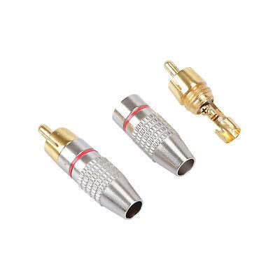 10 Pz Connettore RCA Maschio Jack Spina Saldare Audio Vedio Molla Saldatura Oro 6
