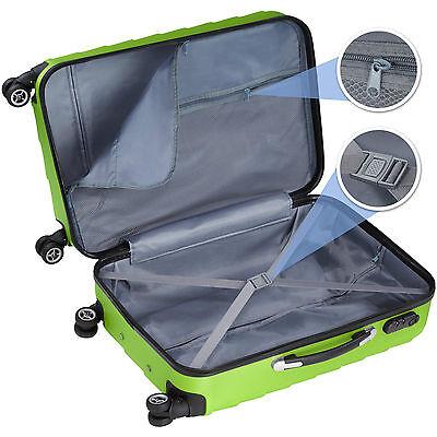 Set 3 Maletas ABS Juego de Maletas de Viaje Trolley Rígidas Verde con Candado 3