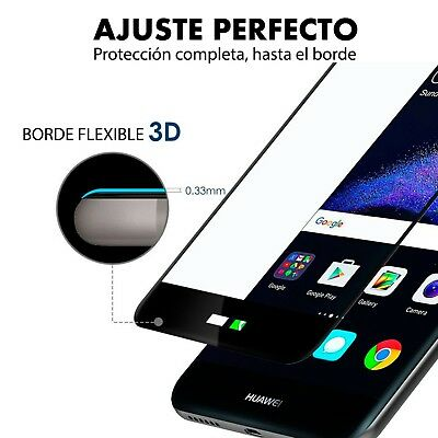 Protector Pantalla Huawei P8 Lite 2017 Cristal Templado 3D Dureza 9H 2