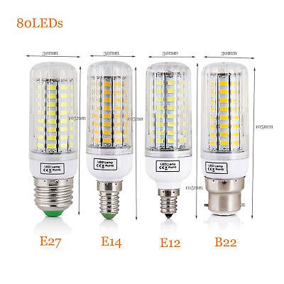 E27 E14 E12 B22 LED Corn Bulb 5730 SMD Light Corn Lamp Incandescent 20W - 160W 7