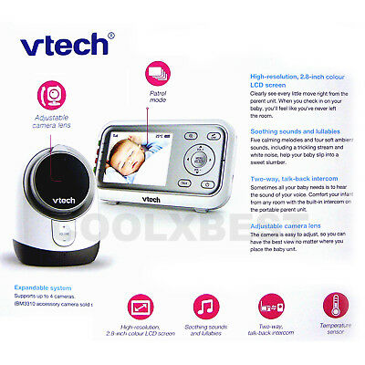 Latest New Vtech Bm3300 Audio & Video Baby Monitor Talk-Back Night Vision