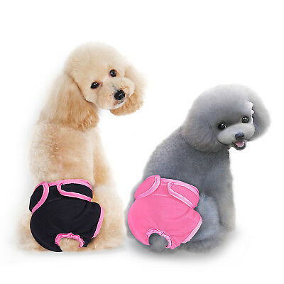 XS-XL Dog Pet Female Nappy Diapers Shorts Season Sanitary Pants UndiesUnderpants 3