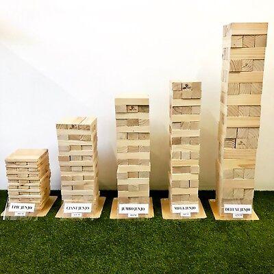 Giant Jenjo Wooden Tumbling Tower Game 63cm 6