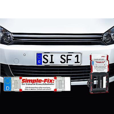 2 x Kennzeichenhalter rahmenlos Nummernschild KFZ Auto Setpreis SimpleFix Set