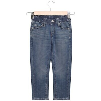 Boys Trousers Jeans Pants Pull On Stretch Elasticated Waistband Straight 3