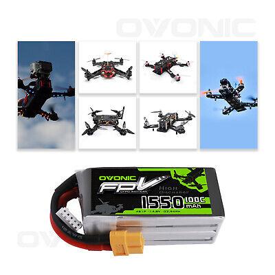 2X Ovonic 100C 1550mAh 14.8V 4S Lipo Battery with XT60 Plug For FPV Quad Drone 2